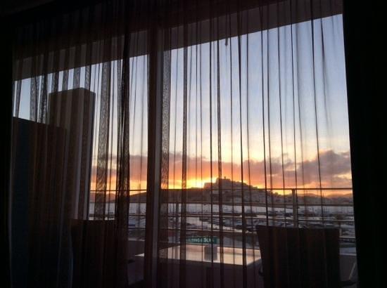 OD Ocean Drive: Sonnenuntergang Silvester 2013 vom Zimmer 302