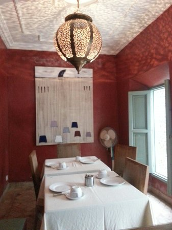 Riad les Hibiscus : The breakfast room