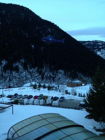 Hotel Montarto: Helicóptero algunas mañana que hacía ruido.