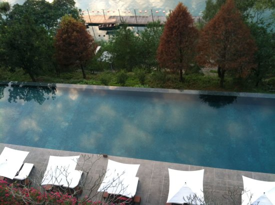 The Lalu Sun Moon Lake: View of pool from 7th floor balcony