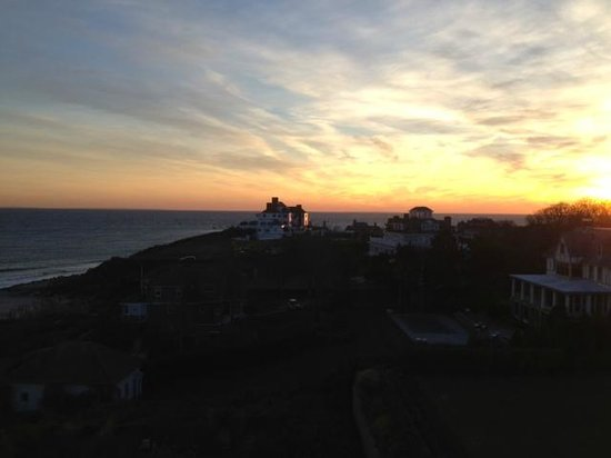 The Ocean House : Taylor Swift's house on the hill (or so I was told) at sunset.