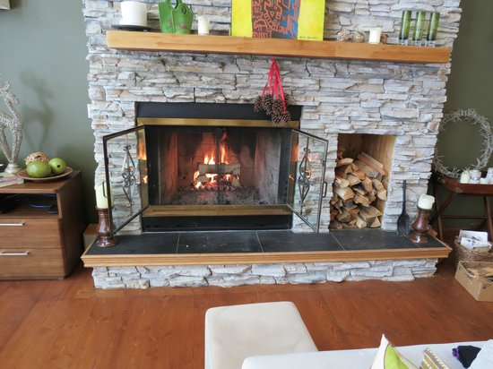 Home Lodge: Fireplace