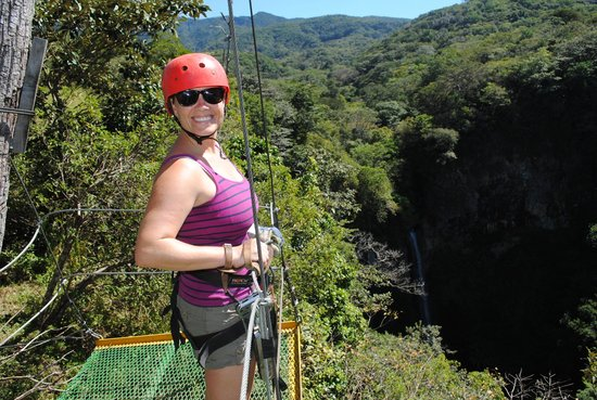 Tico Tours Guanacaste: At the first of 10 Zip lines