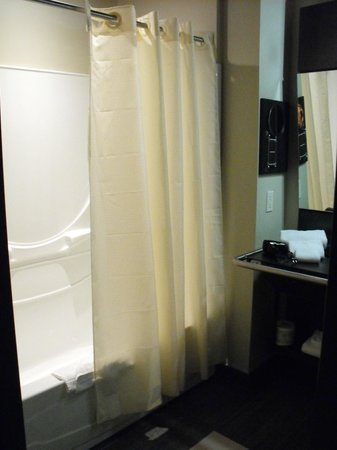 Grand Times Hotel - Quebec City Airport: Room 214 - accessible bathroom