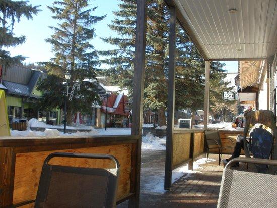 The Bean Tree: Outdoor sitting area