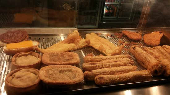 Mr Pia's Fish & Chip: Freshly fried food kept warm while the rest of the order is made
