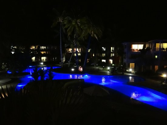 Mantra Amphora: View of Pool from our room by night