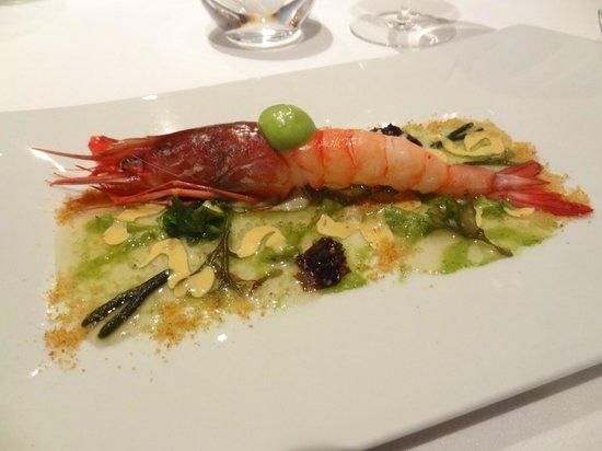 Restaurante Lasarte: prawn