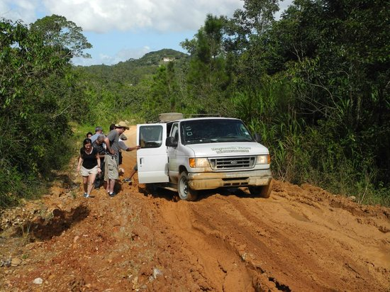MayaWalk Tours : stuck in the mud the first time
