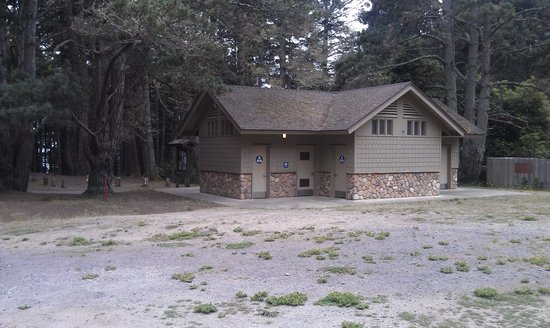 Van Damme State Park: Newer Bathrooms & Showers in Upper Campground near Campground Host near Site 72