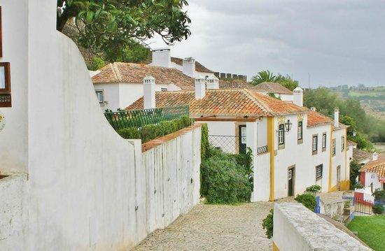 Pousada do Castelo de Obidos: Side of hotel with door to our room