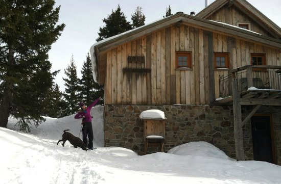 Opus Hut in the winter.