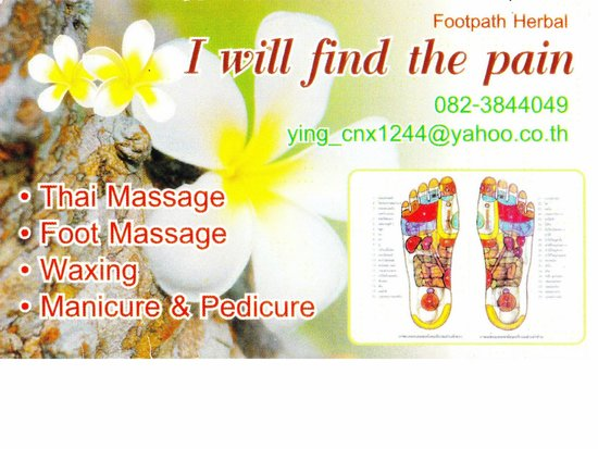 Kalare Night Bazaar : Massage given by Ying - go there to get rid of your long-term pain