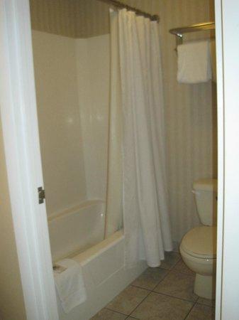 Americas Best Value Inn St. Augustine Beach: Bath tub & toilet
