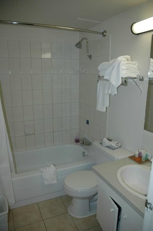 Coast Fraser Tower: Bathroom in the apartment
