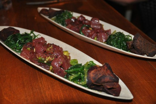 Lava Lava Beach Club: Ahi Poke, Wakame Sweet Potato Chips