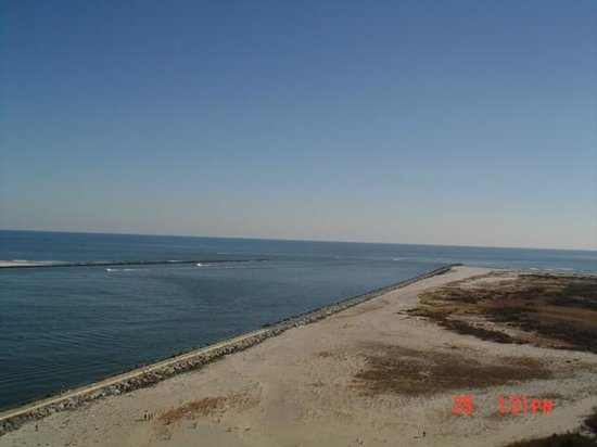 Barnegat Lighthouse State Park: View of Beach at Barneget Lighthouse