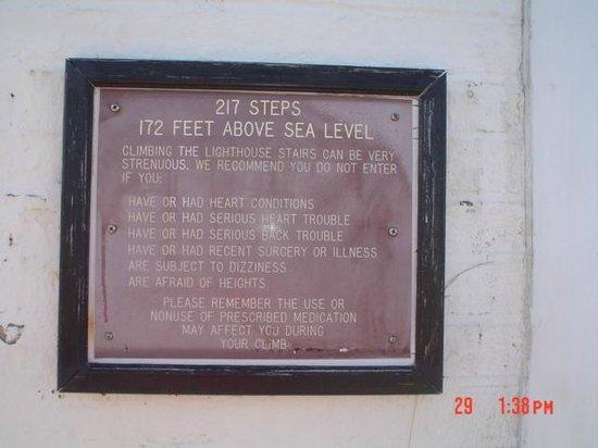 Barnegat Lighthouse State Park: Sign at Barneget Lighthouse