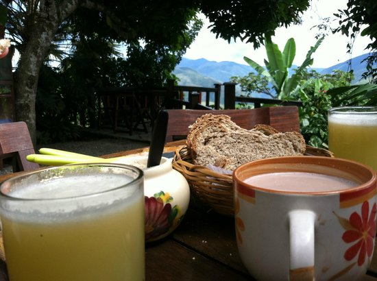 Villa Bonita: Breakfast with an amazing view