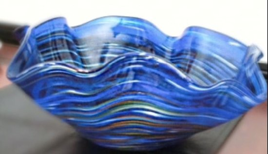 Manchester Hot Glass: Free form large bowl - Gift