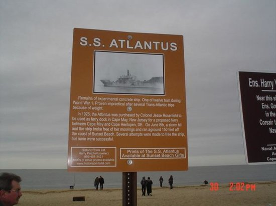 Cape May City Beaches: ss atlantus
