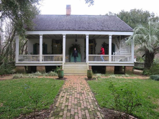 Historical restored creole cottage exterior picture of for Louisiana cottage house plans