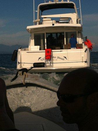 Blue Chairs Beach Club Restaurant & Bar: The boat that rescued us.