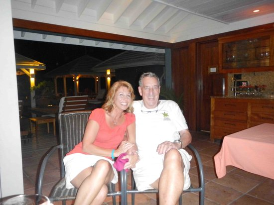Barefoot Cay Resort: My beautiful wife Cindy with Hal