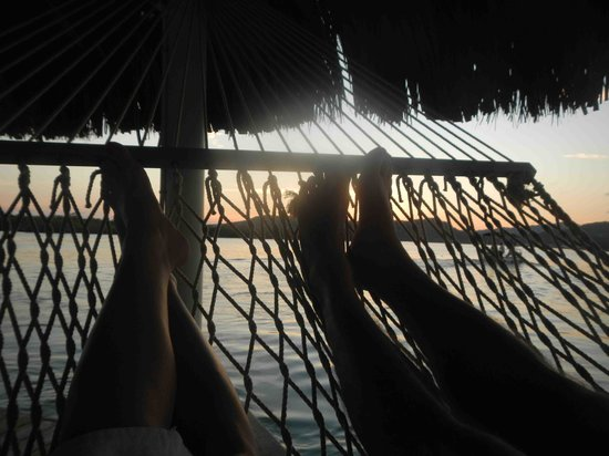 Barefoot Cay Resort: Relaxing in the hammock