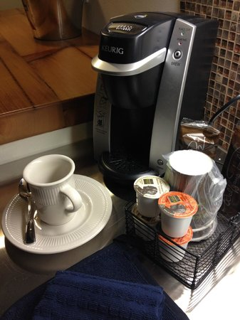The Brewhouse Inn & Suites: in room coffee service