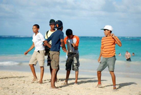 "Grand Bahia Principe Punta Cana: Daily ""entertainment"" on the beach"