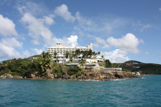 Frenchman's Reef & Morning Star Marriott Beach Resort : Hotel from offshore
