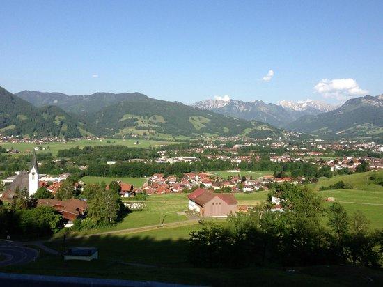Familotel Allgauer Berghof: View of town just below resort (Santhofen)