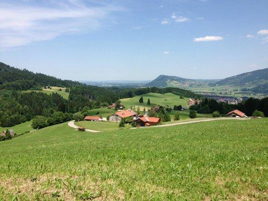 Familotel Allgäuer Berghof : View as you drive down the mountain (2 min drive)