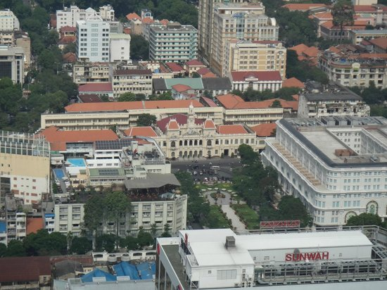 Bitexco Financial Tower - Saigon Skydeck: Famous Rex Rooftop, Versace Plaza from Bitexco (Night)