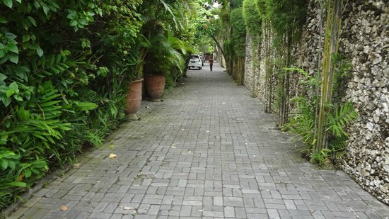 Villa Kubu Seminyak: Path to our villa in the complex