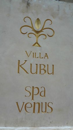 Villa Kubu Boutique Hotel & Spa: Villa Complex Sign