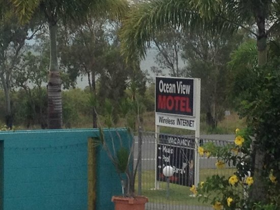 Ocean View Motel: Sign