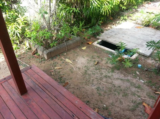 L'esprit de Naiyang Resort: Rotten wood and next to drainage system