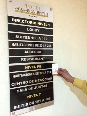 Hotel Aguascalientes : actualizar letreros