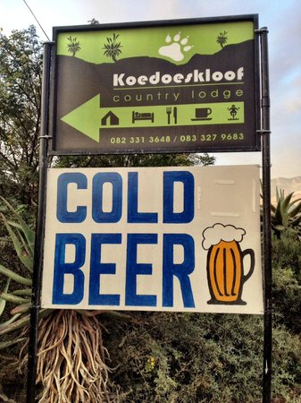 Koedoeskloof Country Lodge : Cold Beer!