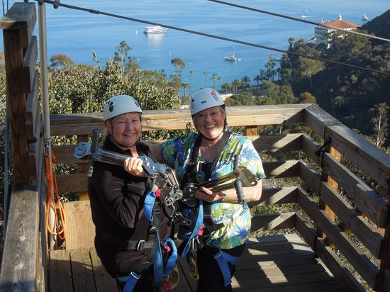 Catalina Zip Line Eco Tour: All dressed up & places to go --- UP