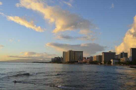 Outrigger Waikiki Beach Resort: We can see our hotel...