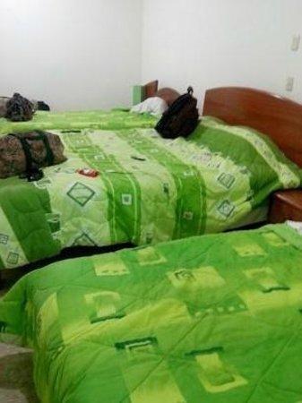 Hotel Rio Huallaga: Era un cuarto de dos camas normales y una matrimonial