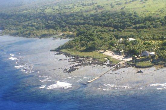 White Grass Ocean Resort & Spa: White Grass Ocean Resort from the plane