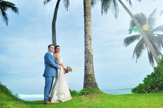 Our wedding at the Frangipani Tree