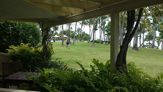 Shangri-La's Fijian Resort & Spa: Room view towards east wing pool area