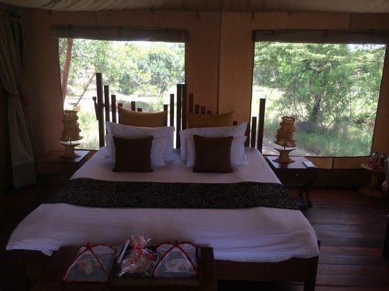 Neptune Mara Rianta Luxury Camp: 部屋の中