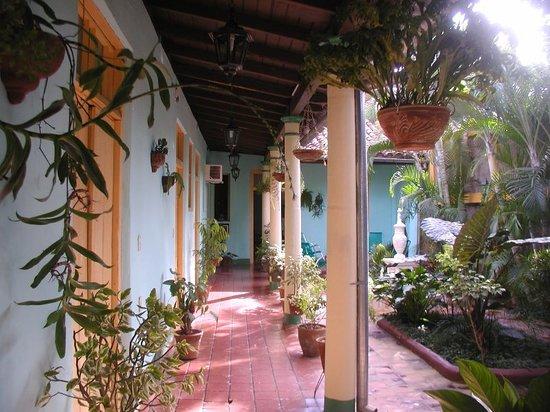 Hostal Buen Viaje: patio-terraza