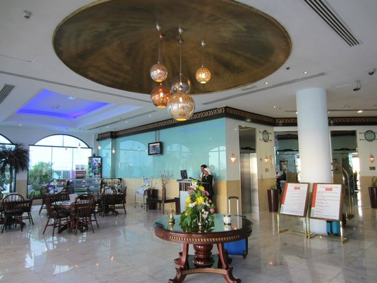Al Jawhara Gardens Hotel: receptionen